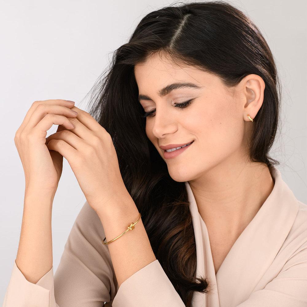 Knot Now Bangle Bracelet - Gold Plated - 2