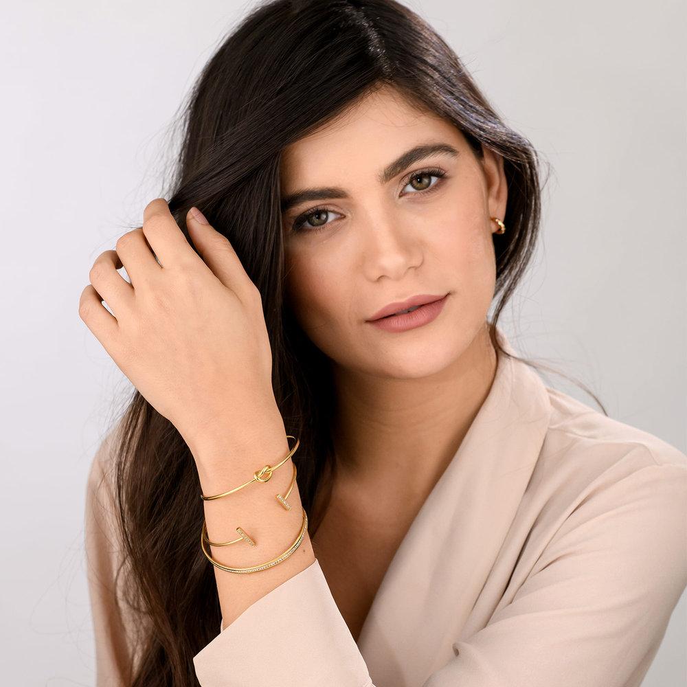 Knot Now Bangle Bracelet - Gold Plated - 4