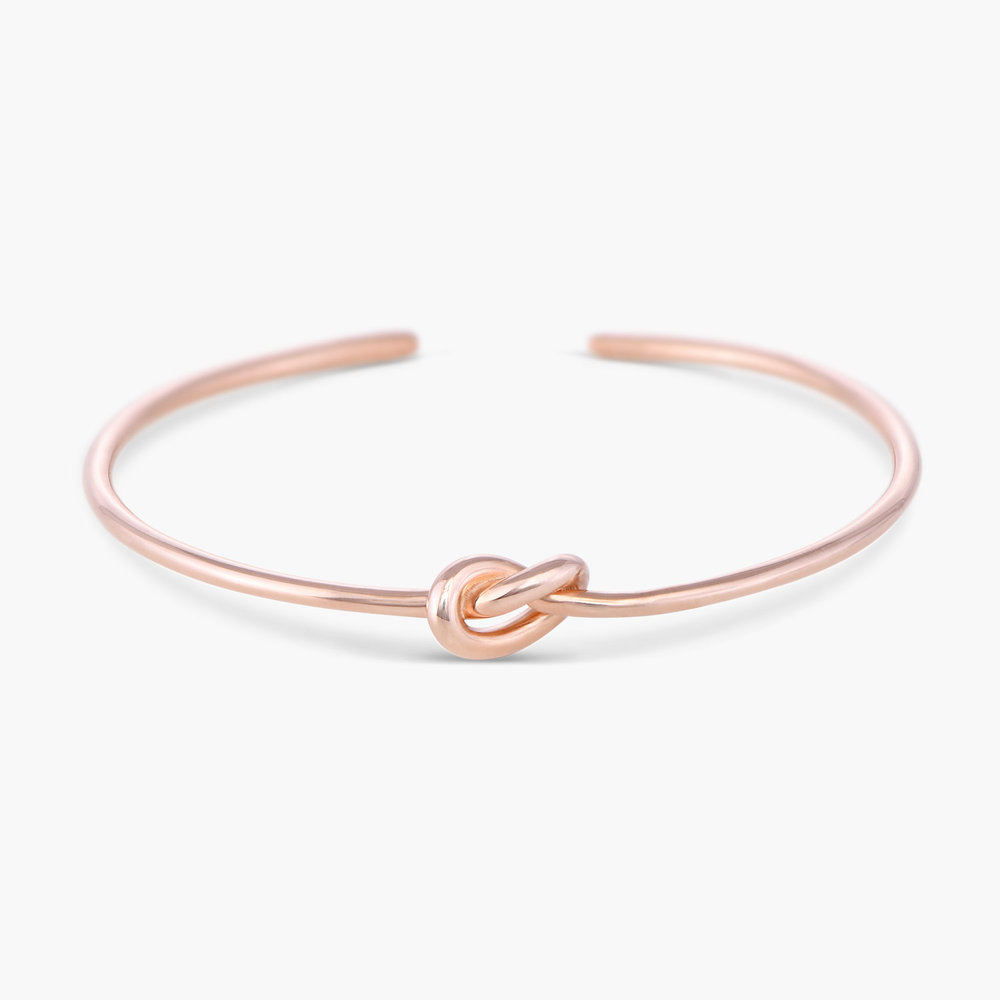 Knot Now Bangle Bracelet - Rose Gold Plated