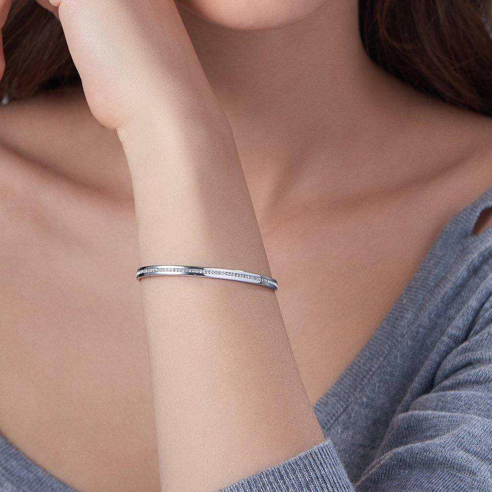 Siren Bangle Bracelet - Silver - 2