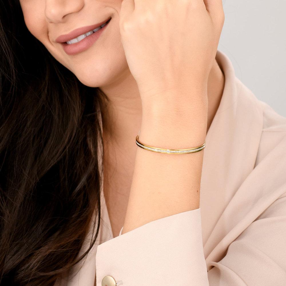 Siren Bangle Bracelet - Gold Plated - 2