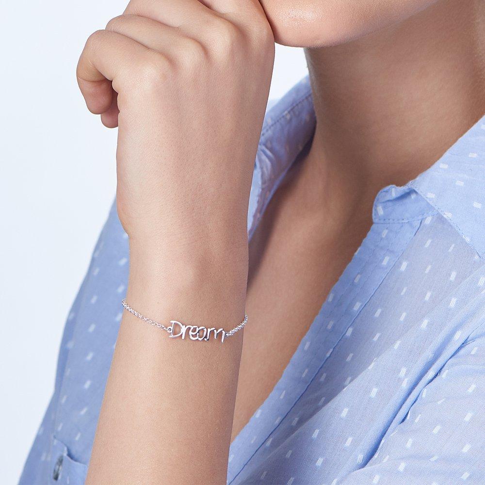 Pixie Name Bracelet - Silver - 4