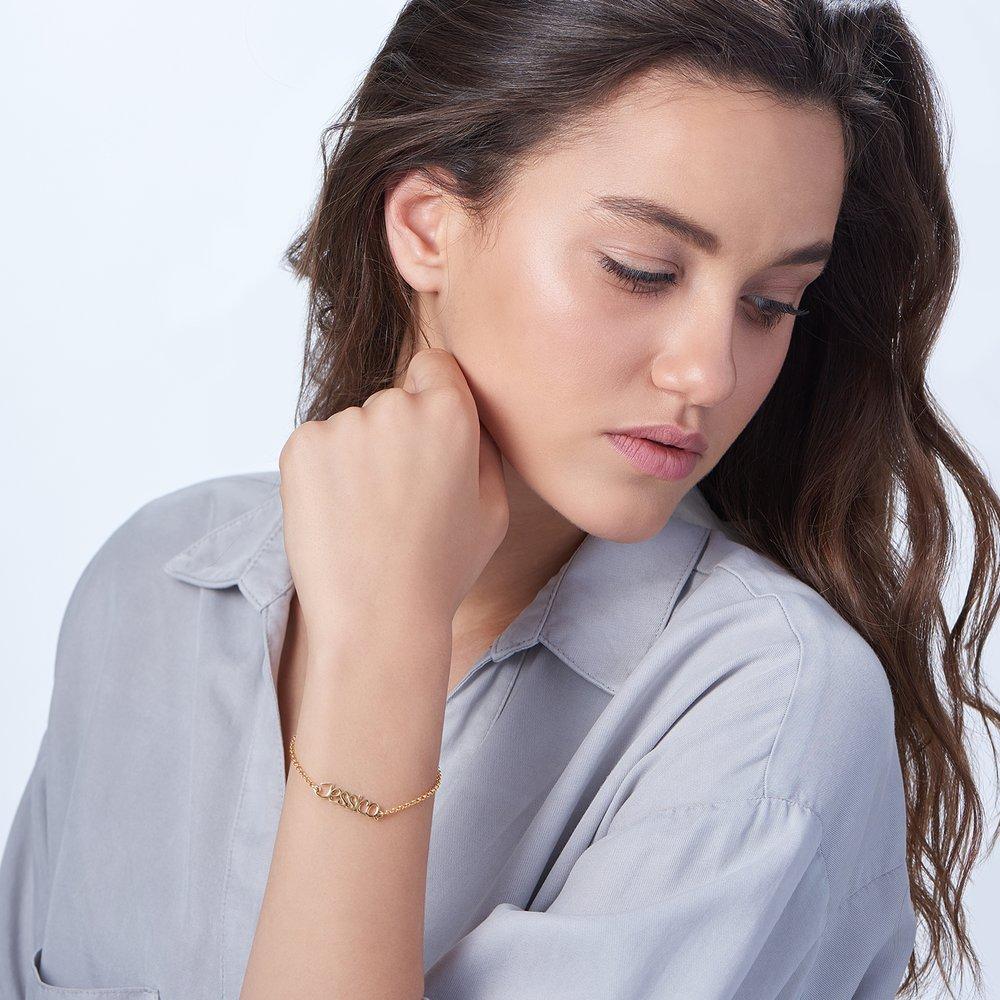 Pixie Name Bracelet - Gold Plated - 3