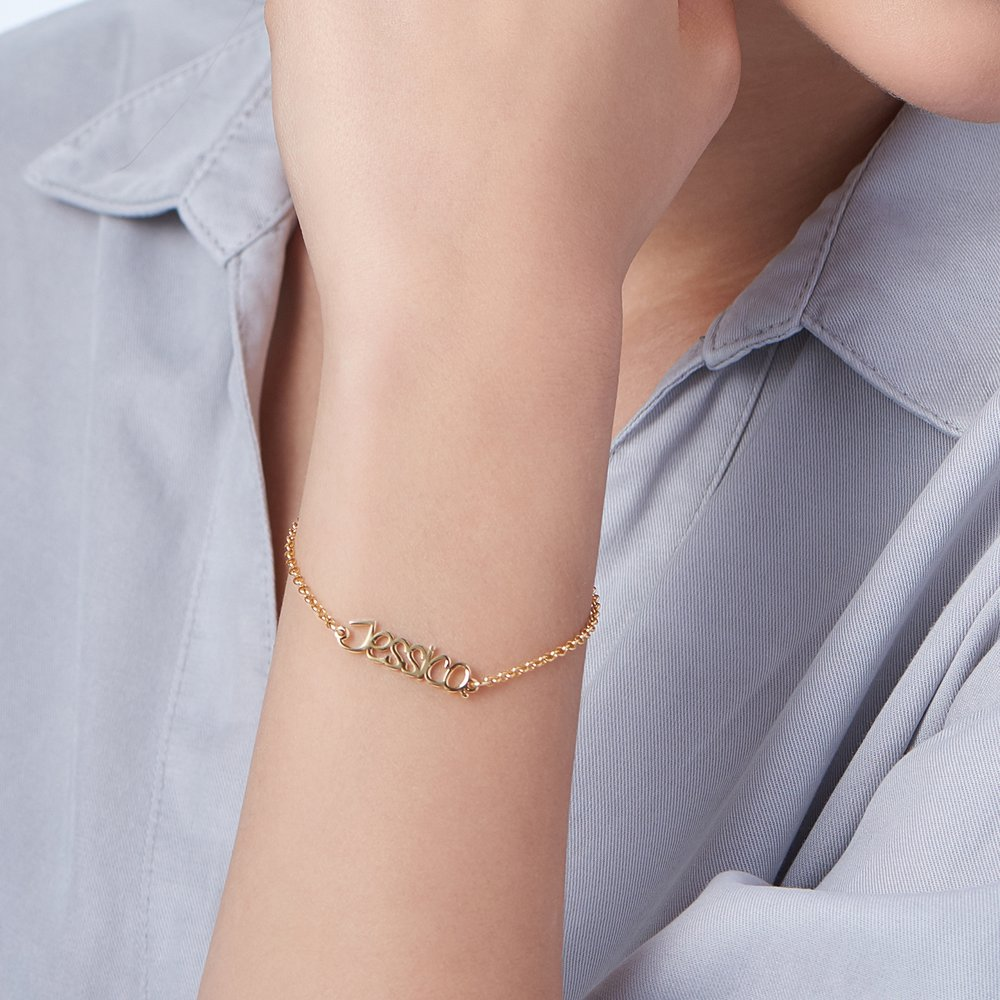 Pixie Name Bracelet - Gold Plated - 4