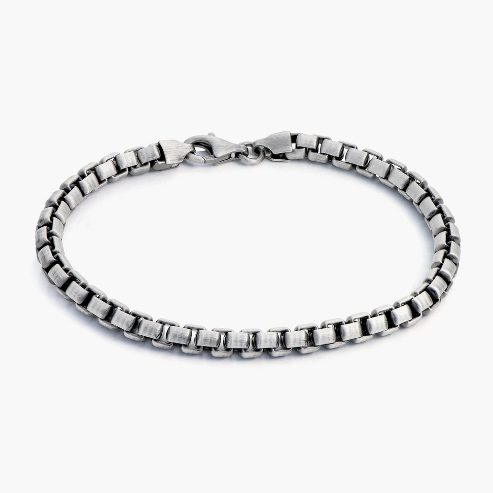 Cutting Edge Box Chain Bracelet - Silver