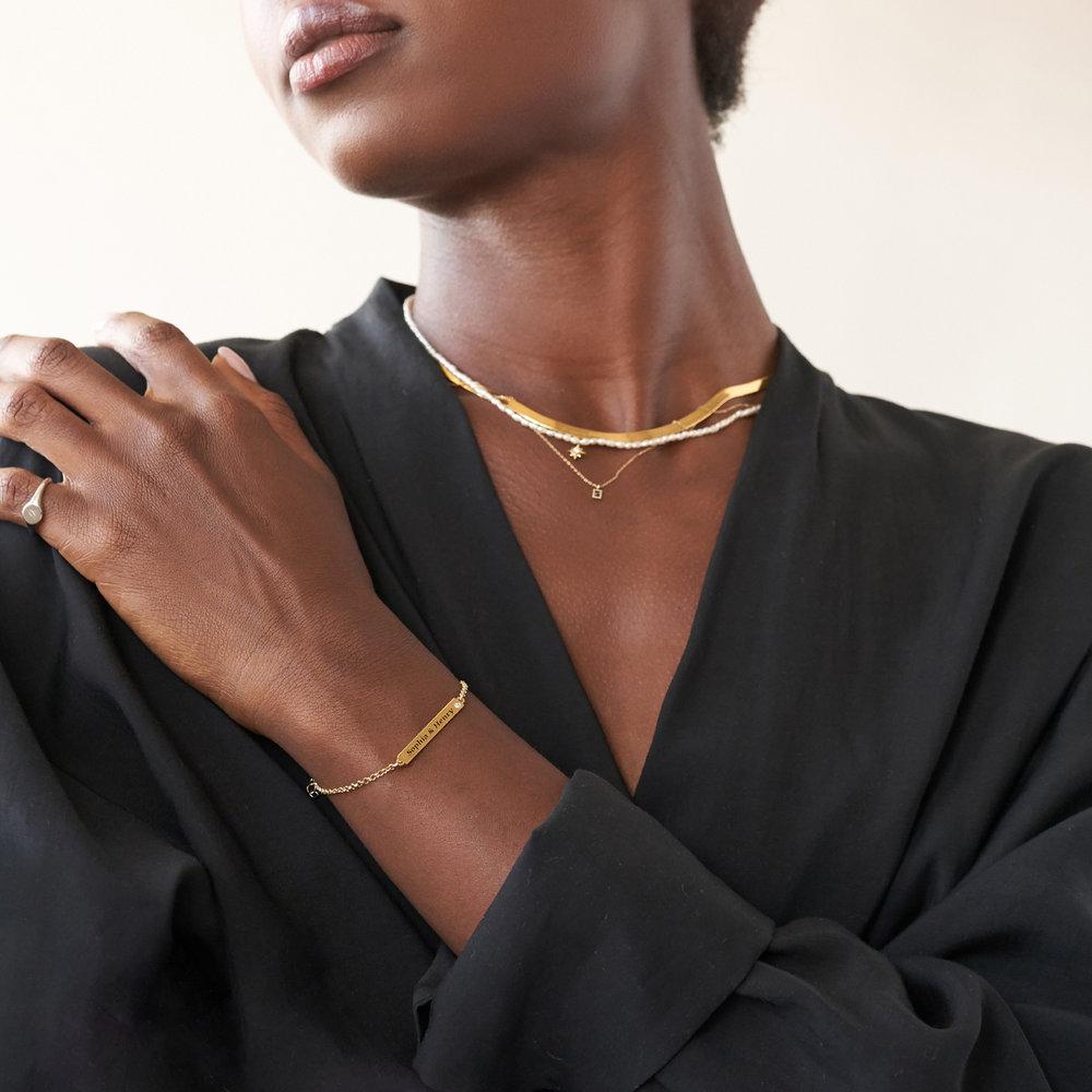 ID Name Bracelet with Diamond - Gold Vermeil - 2