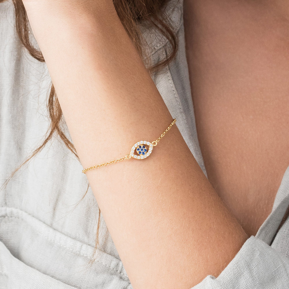 All Eyes on You Bracelet - Gold Plated - 3