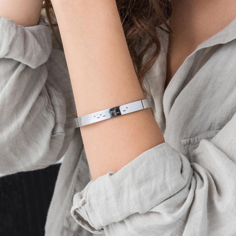 Crack the Code Bracelet - Silver - 2