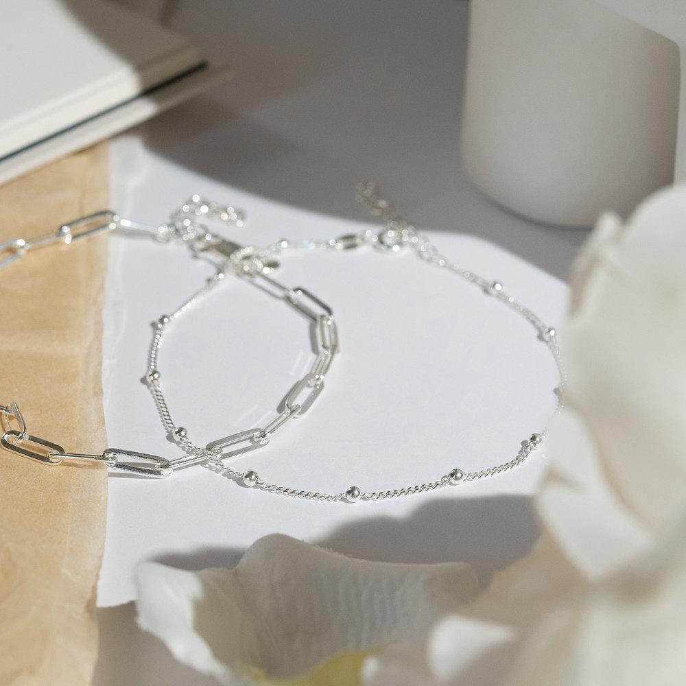Bobble Chain Anklet/Bracelet - Sterling Silver - 2