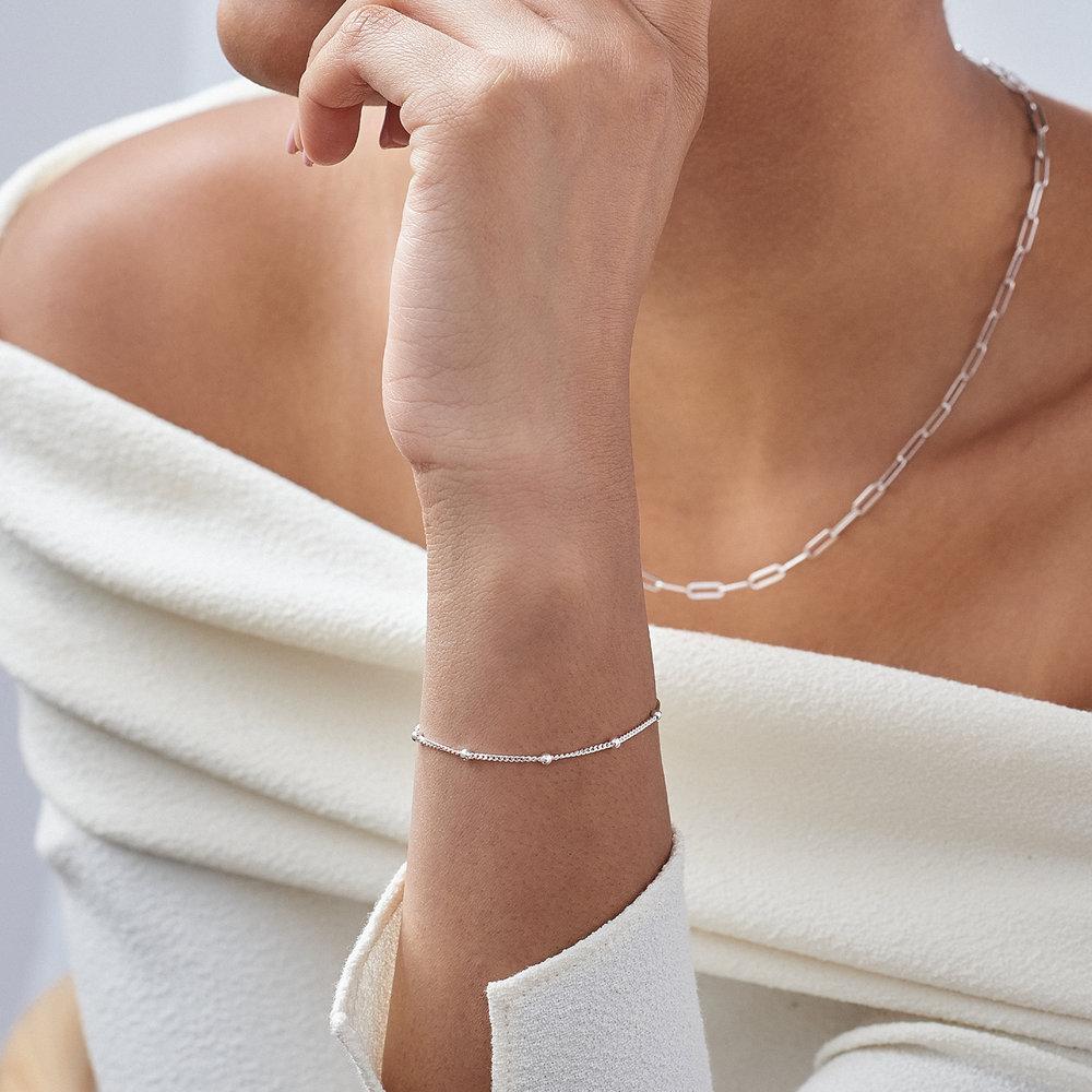Bobble Chain Anklet/Bracelet - Sterling Silver - 4