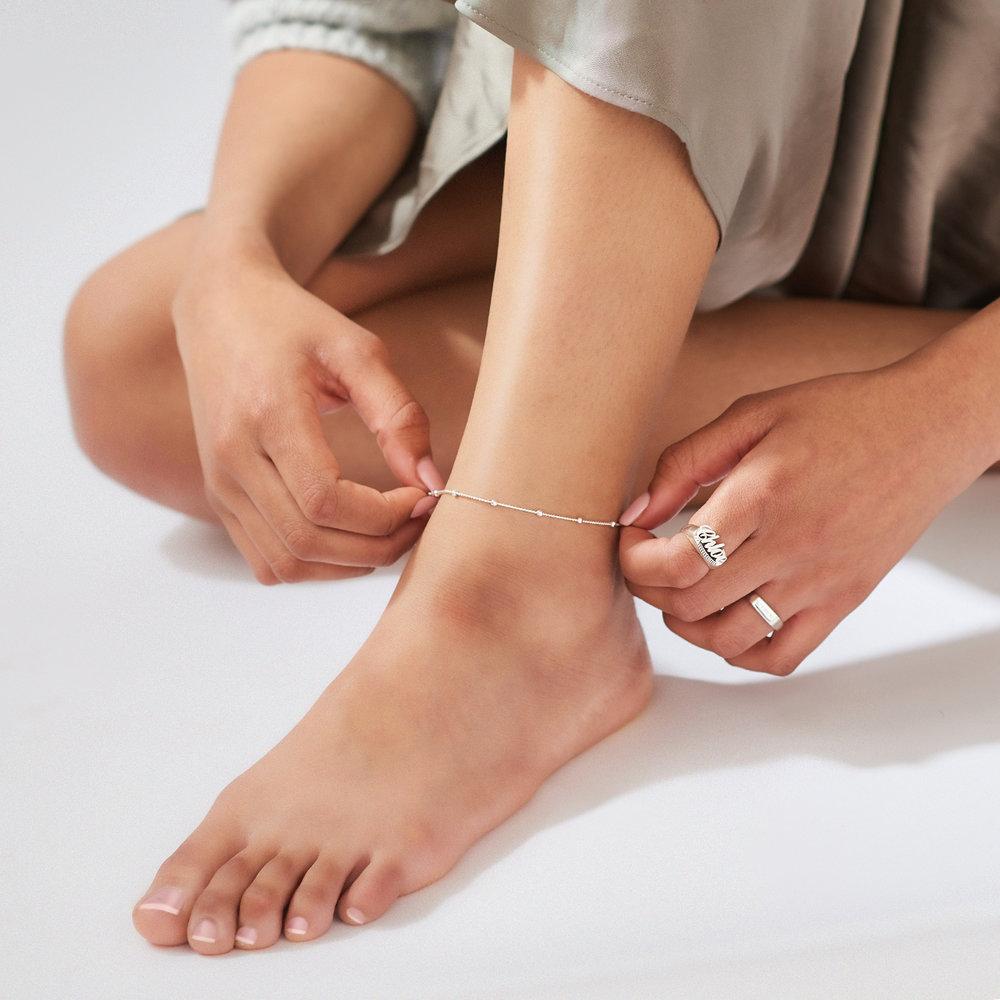 Bobble Chain Anklet/Bracelet - Sterling Silver - 5