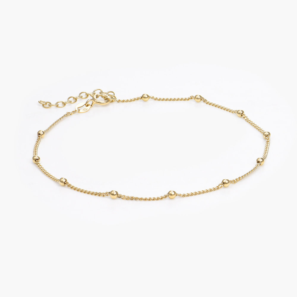 Bobble Chain Anklet/Bracelet- Gold Plated
