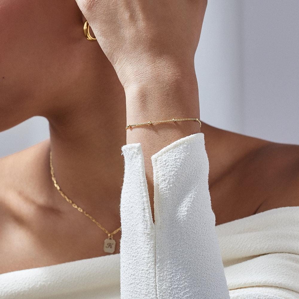 Bobble Chain Anklet/Bracelet- Gold Plated - 4