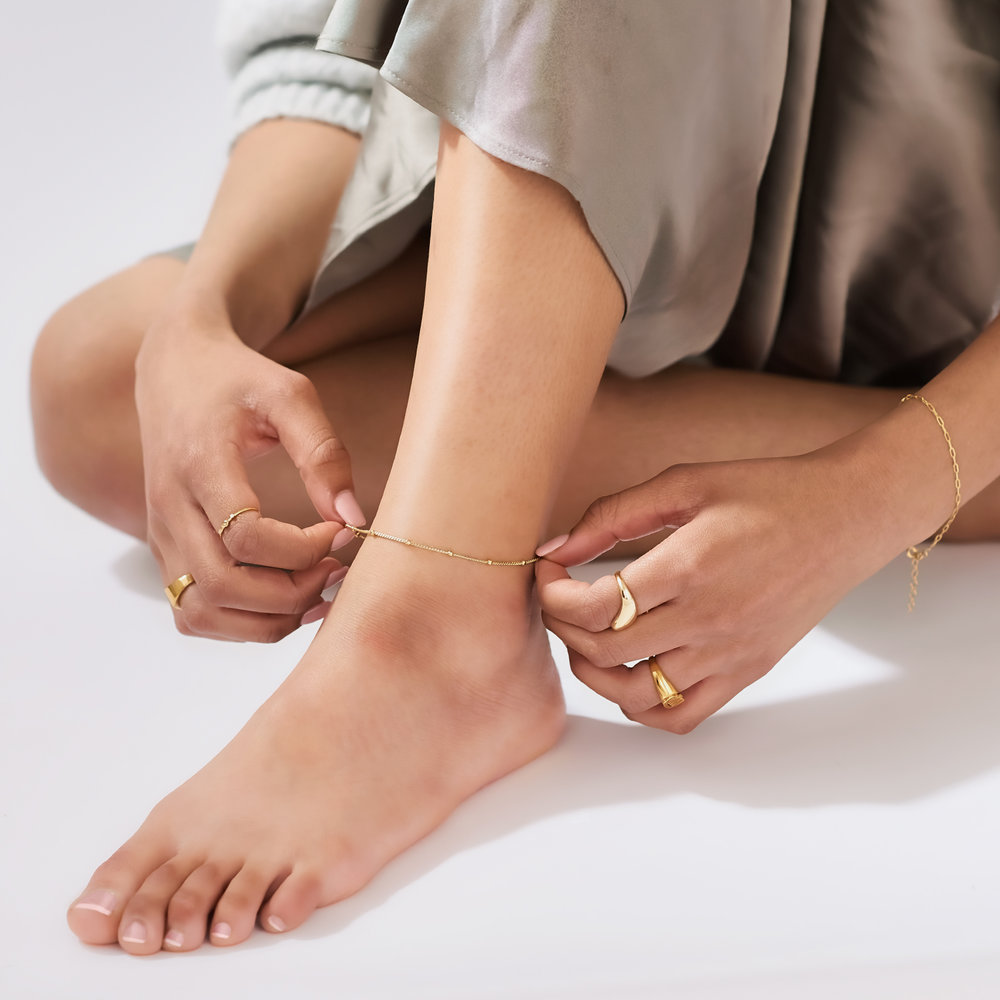 Bobble Chain Anklet/Bracelet- Gold Plated - 5