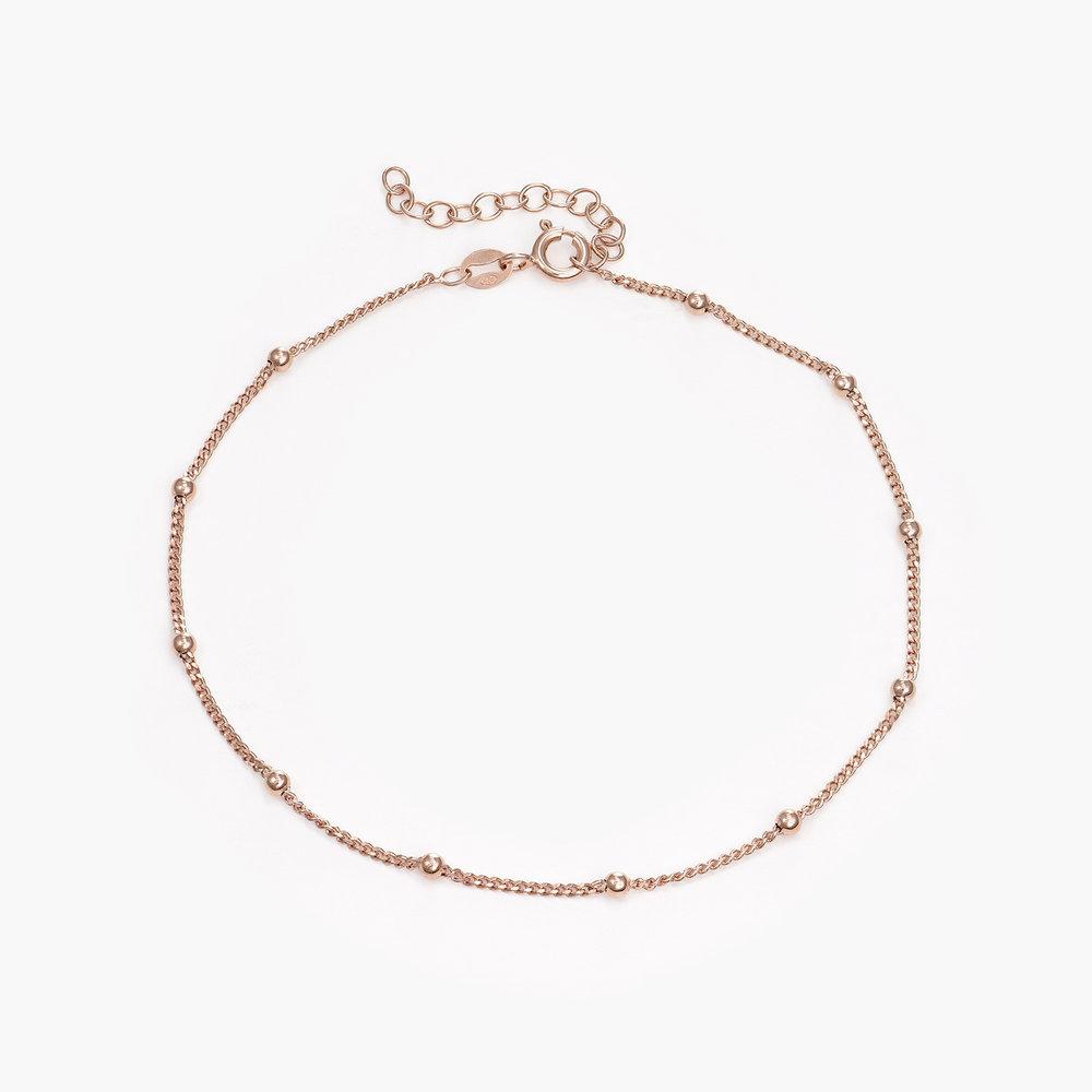 Bobble Chain Anklet/Bracelet- Rose Gold Plated - 1