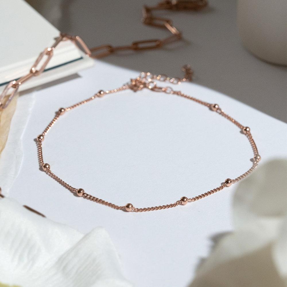Bobble Chain Anklet/Bracelet- Rose Gold Plated - 2