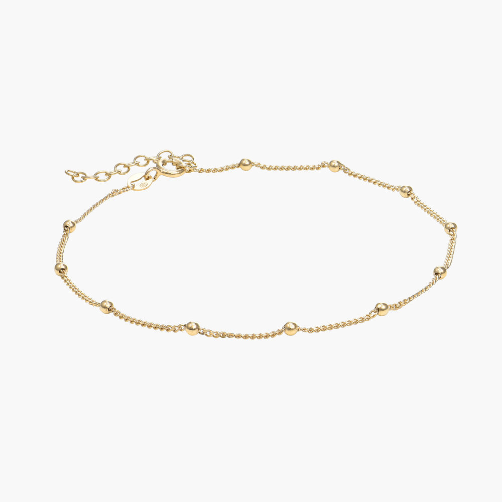 Bobble Chain Anklet/Bracelet- Gold Vermeil