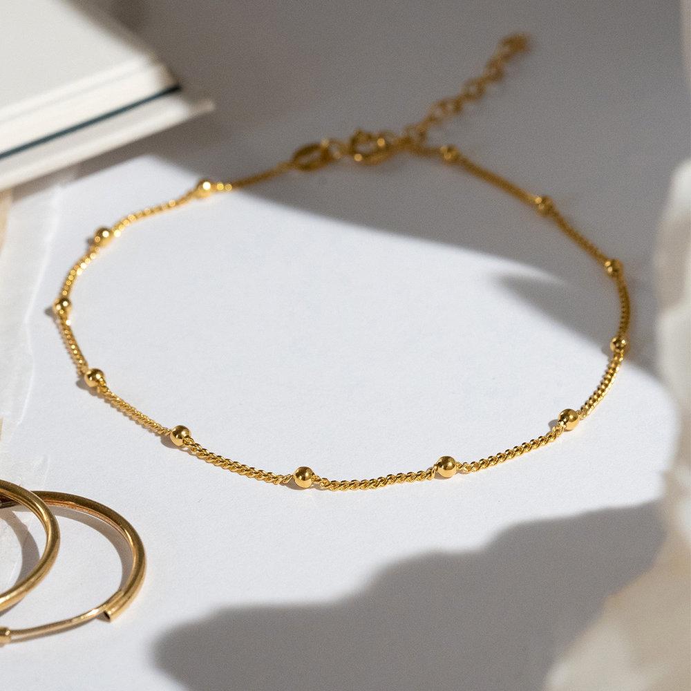 Bobble Chain Anklet/Bracelet- Gold Vermeil - 2
