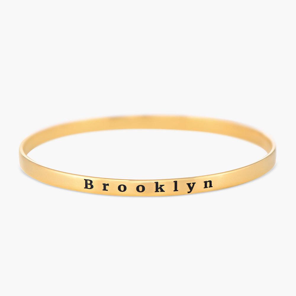 Engraved Bangle Bracelet - Gold Plated