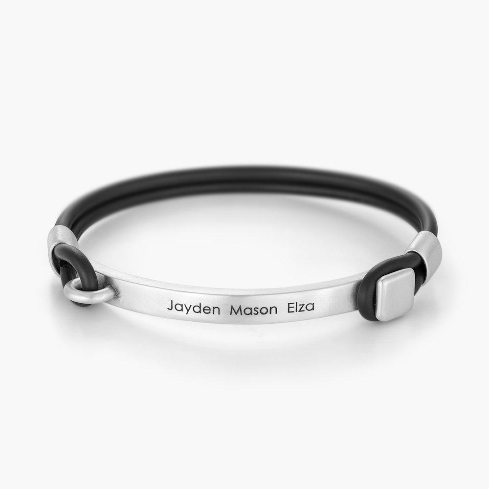 Porter Engraved Bracelet - Silver