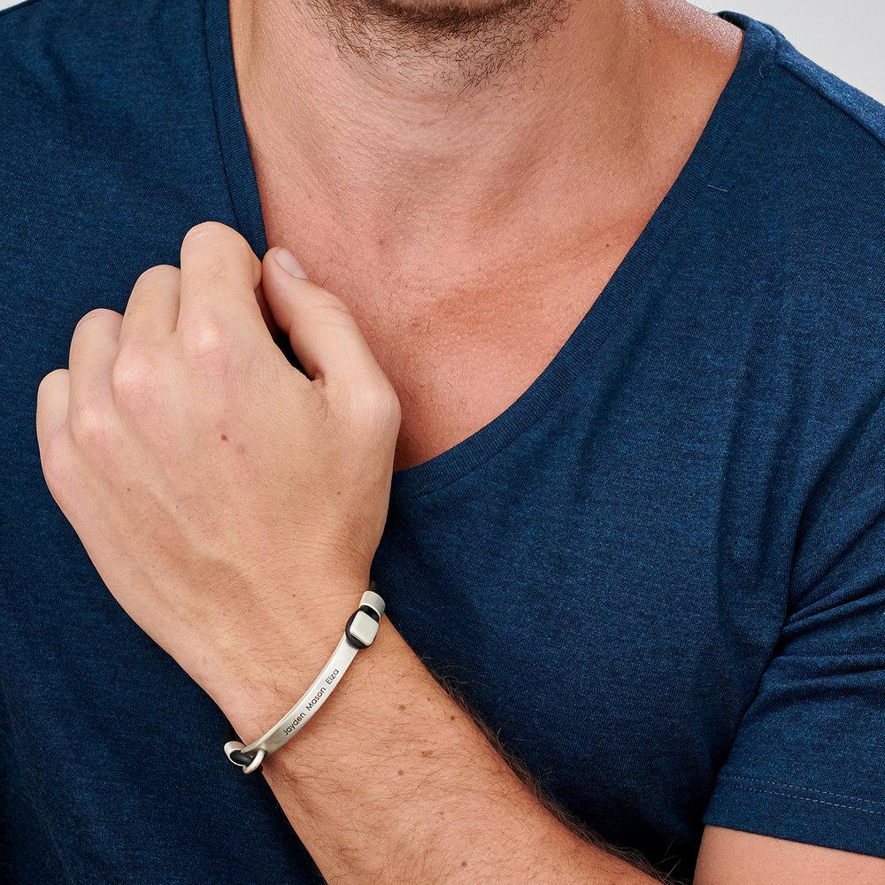 Porter Engraved Bracelet - Silver - 1