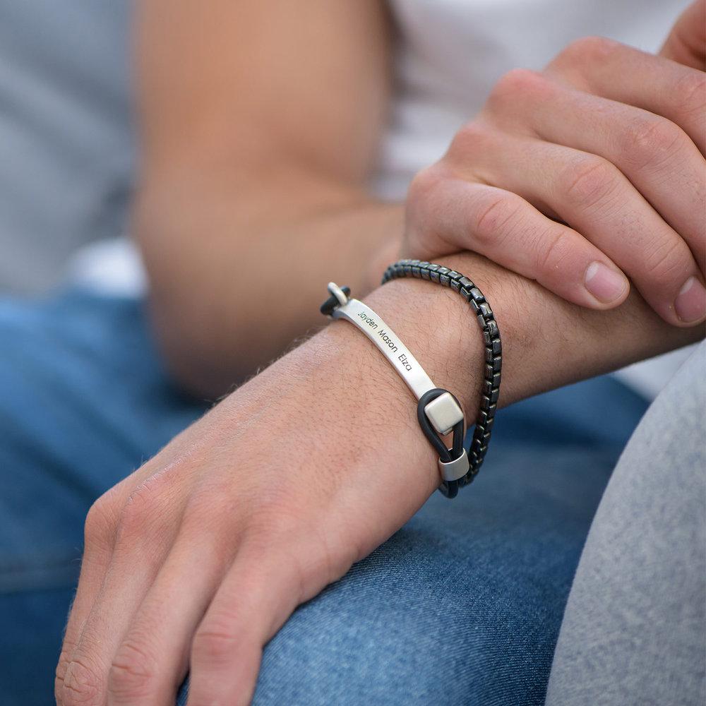 Porter Engraved Bracelet - Silver - 2