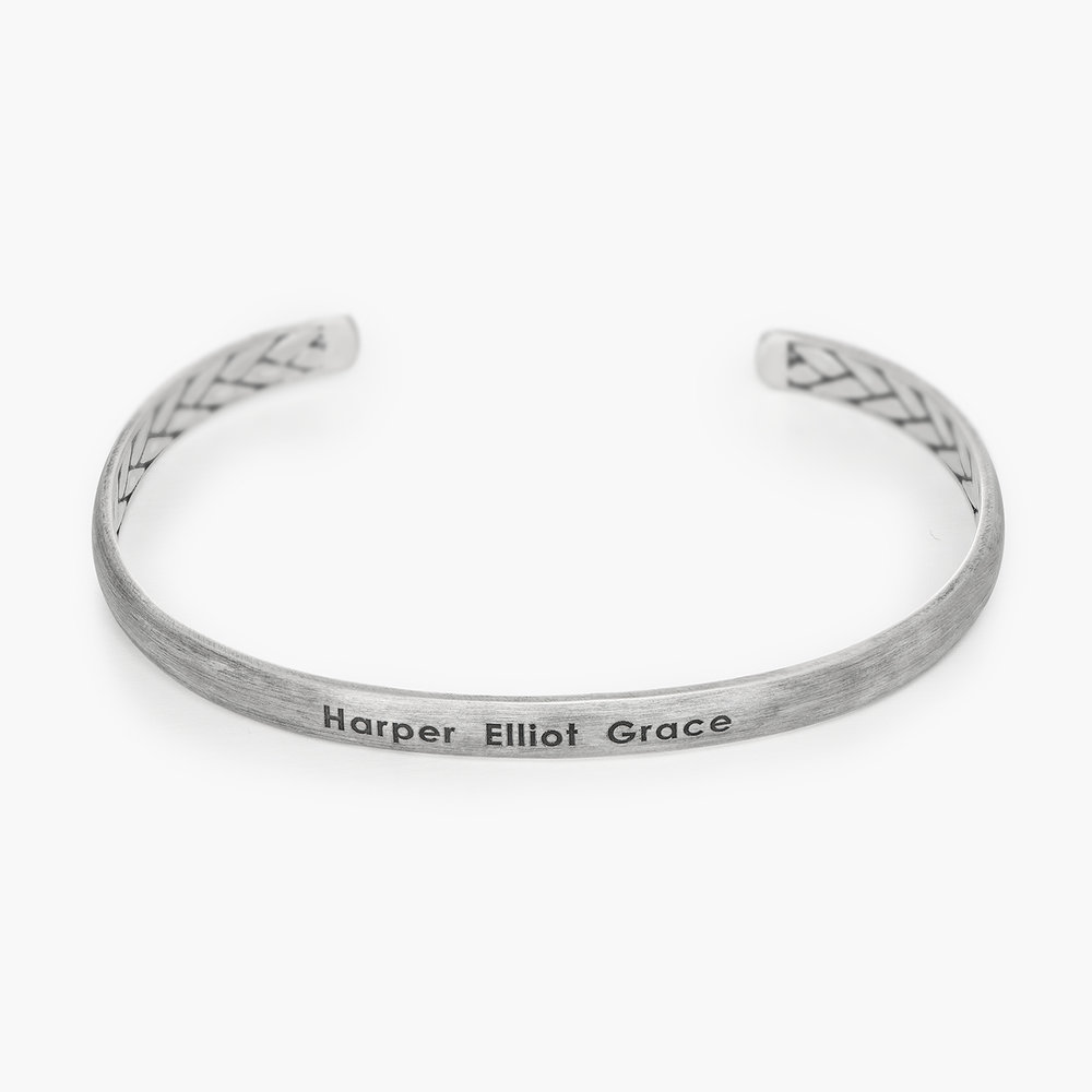 Moonlit Inside Out Streamline Cuff - Silver