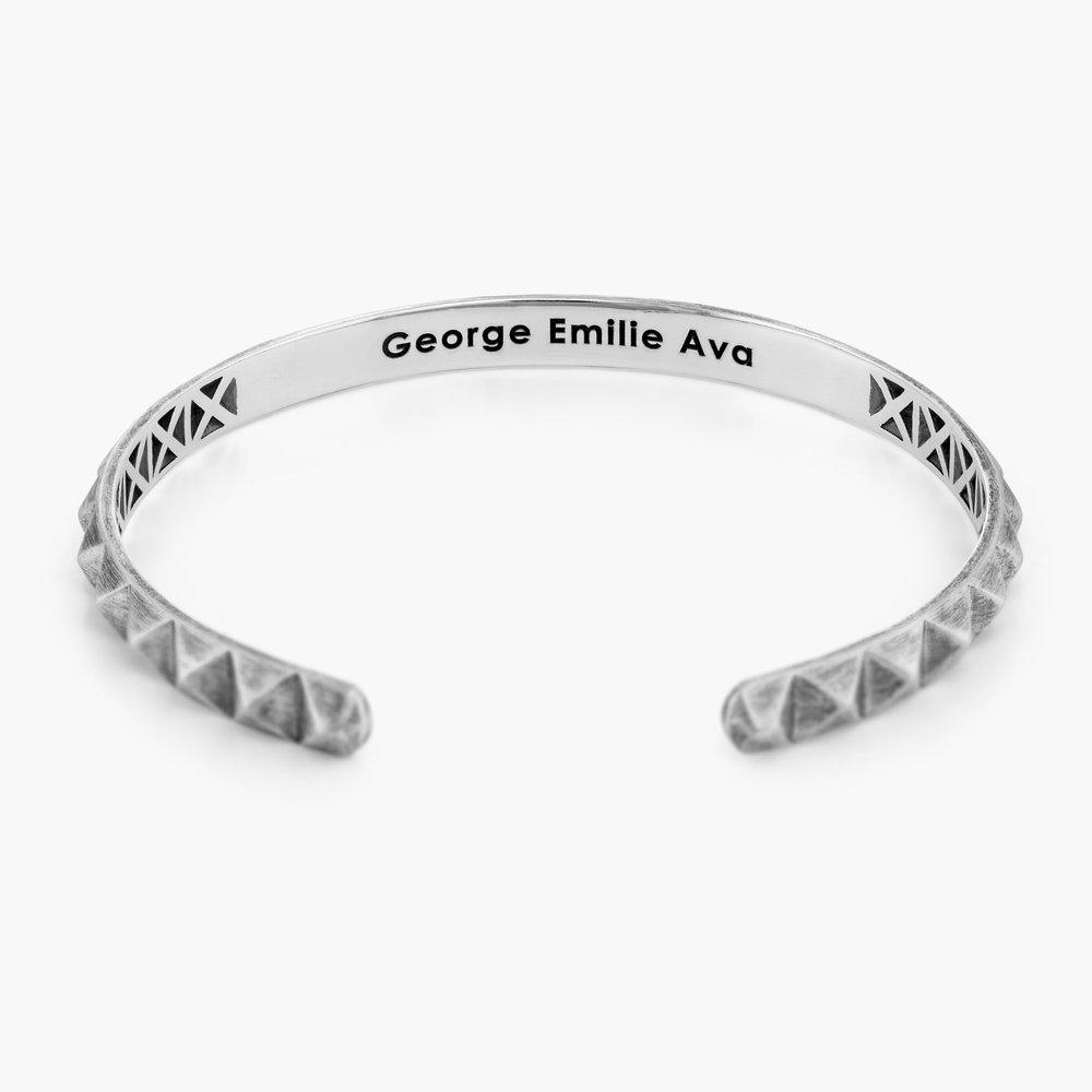 Pyramid Open Cuff Bracelet - Silver - 1