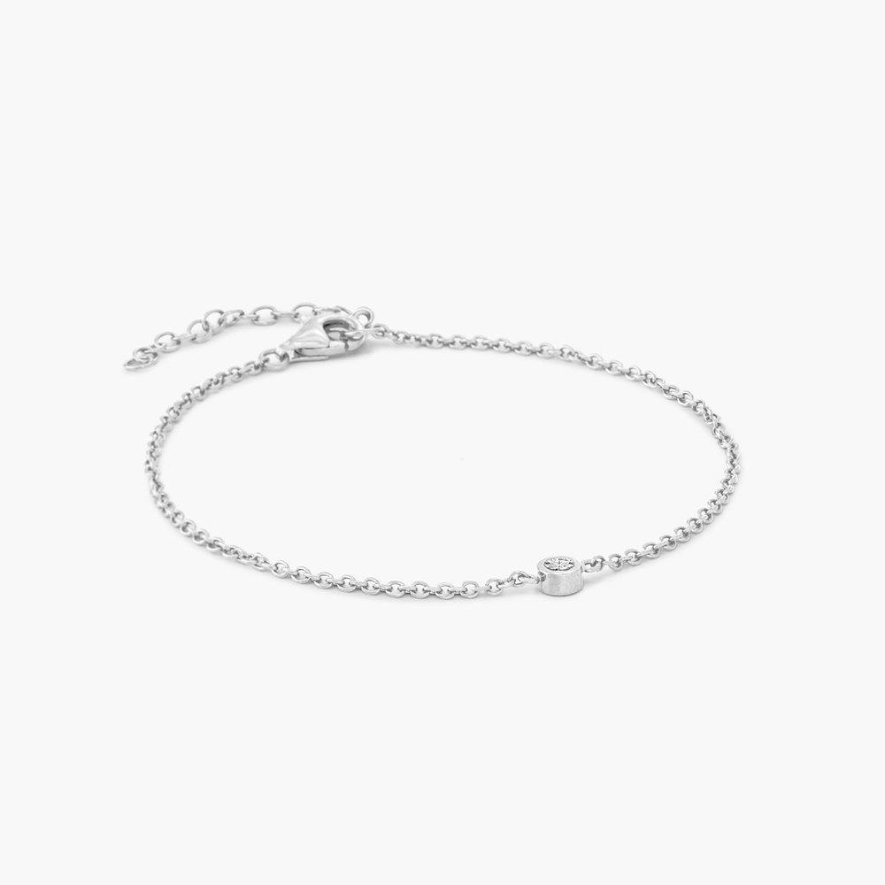 Luna Single Diamond Bracelet - Sterling Silver - 1