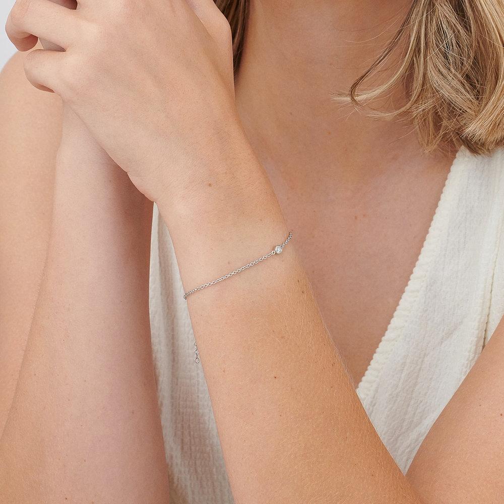 Luna Single Diamond Bracelet - Sterling Silver - 3