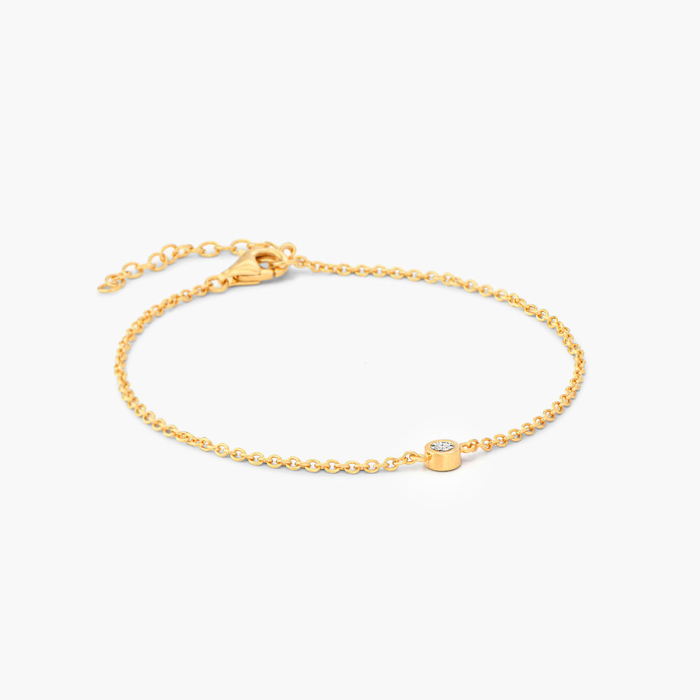 Luna Single Diamond Bracelet - Gold Plated - 1