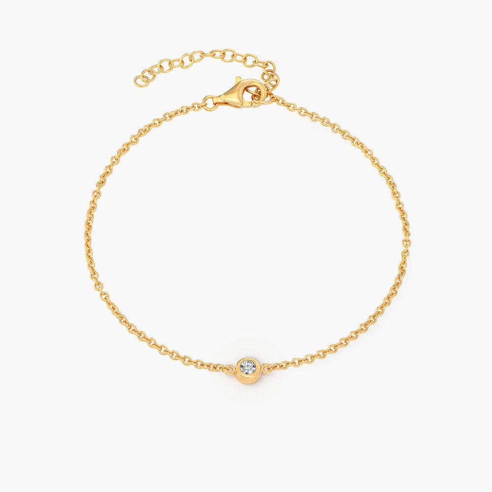 Luna Single Diamond Bracelet - 14k Gold