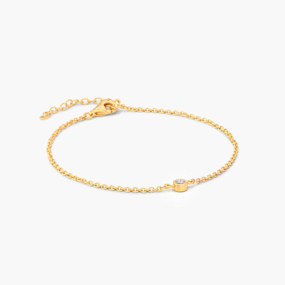 Luna Single Diamond Bracelet - 14k Gold - 1