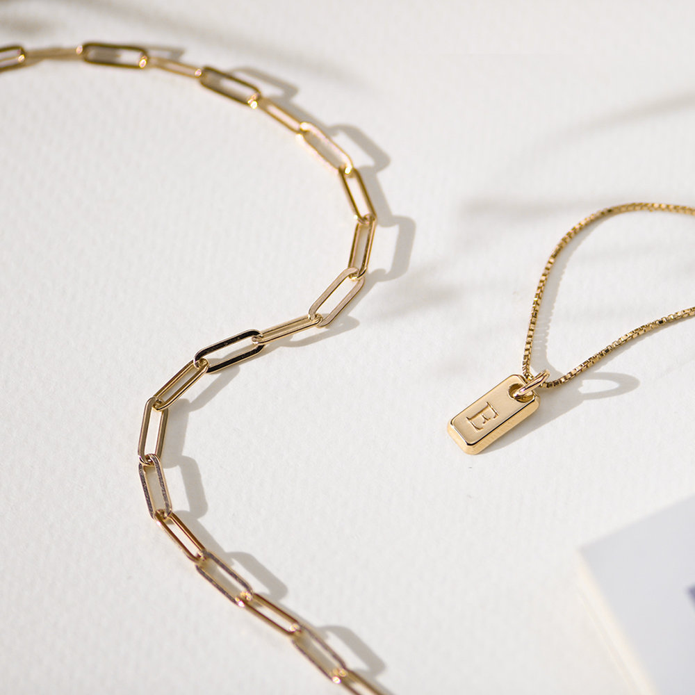 Big Paperclip Bracelet - Gold Plated - 1