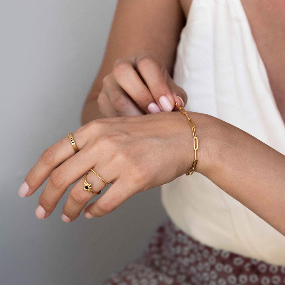 Big Paperclip Bracelet - Gold Plated - 2