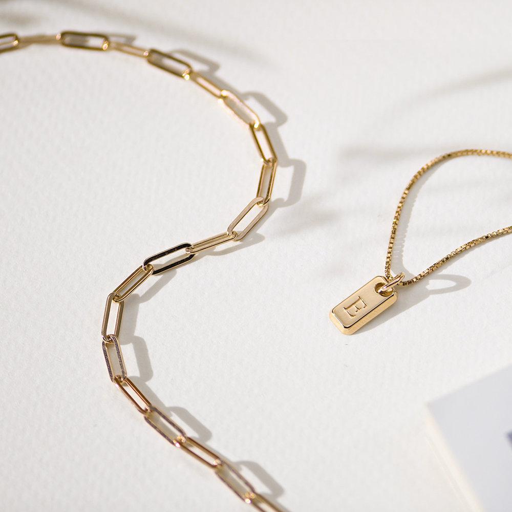 Big Paperclip Bracelet - Gold Vermeil - 1