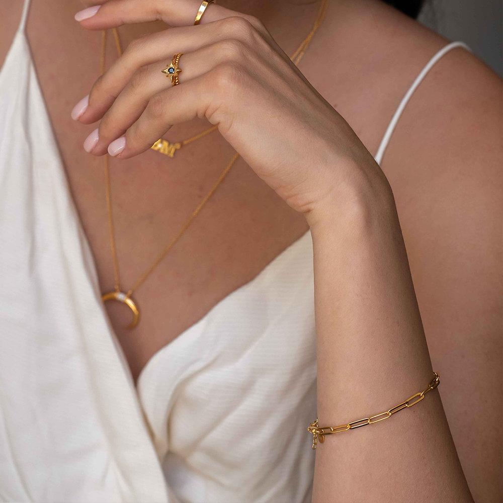 Big Paperclip Bracelet - Gold Vermeil - 3