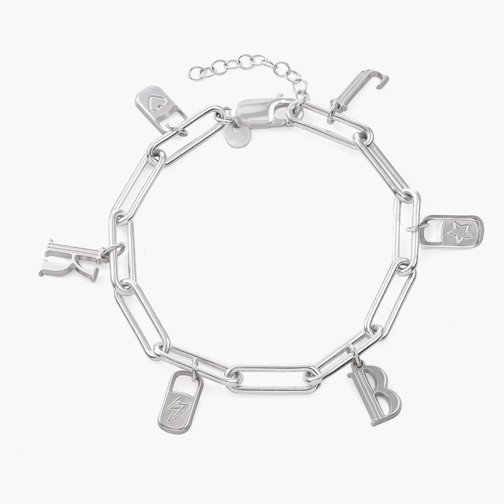 The Charmer Link Initial Bracelet - Sterling Silver - 1