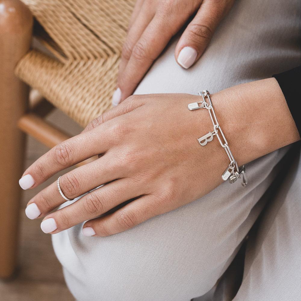 The Charmer Link Initial Bracelet - Sterling Silver - 3