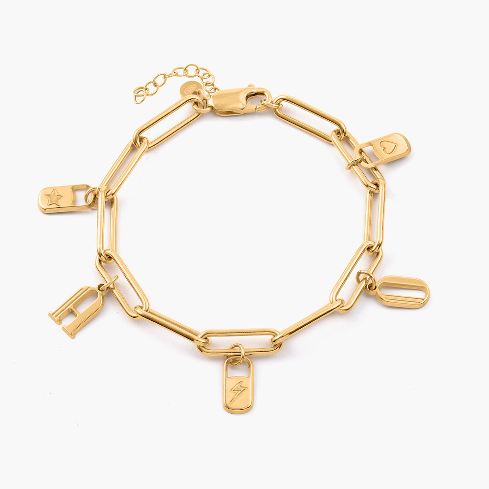The Charmer Link Initial Bracelet - Gold Vermeil - 1