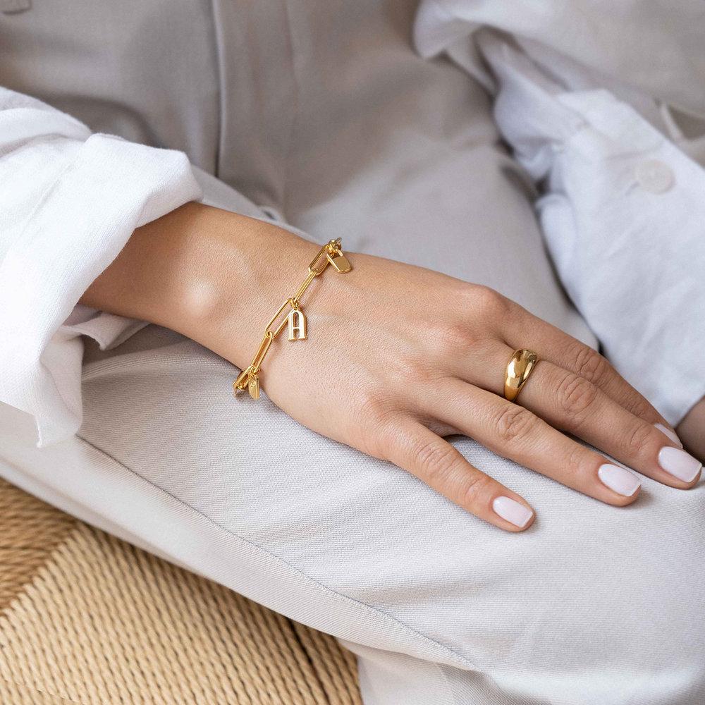 The Charmer Link Initial Bracelet - Gold Vermeil - 3