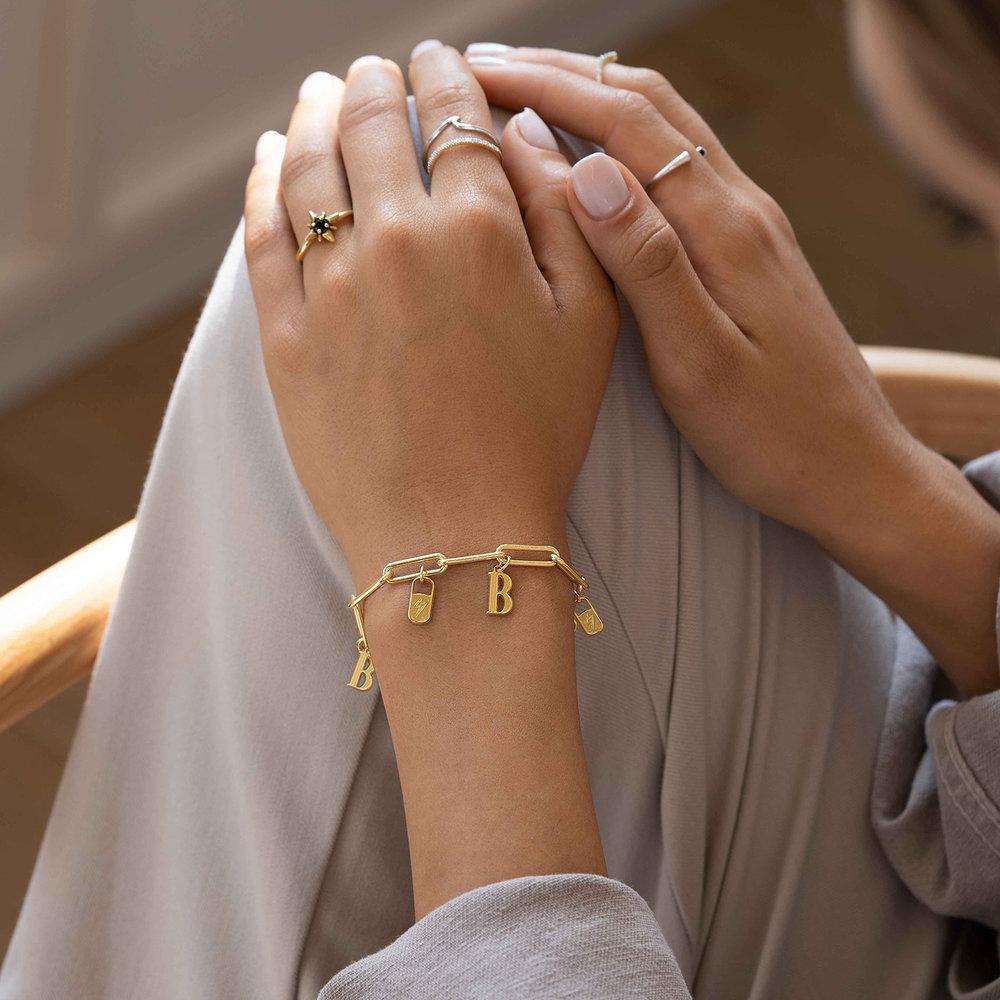 The Charmer Link Initial Bracelet - Gold Vermeil - 4