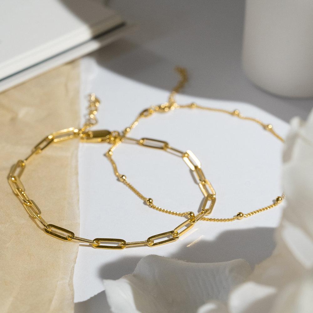 The Showstopper Link Bracelet/Anklet - Gold Plated - 2