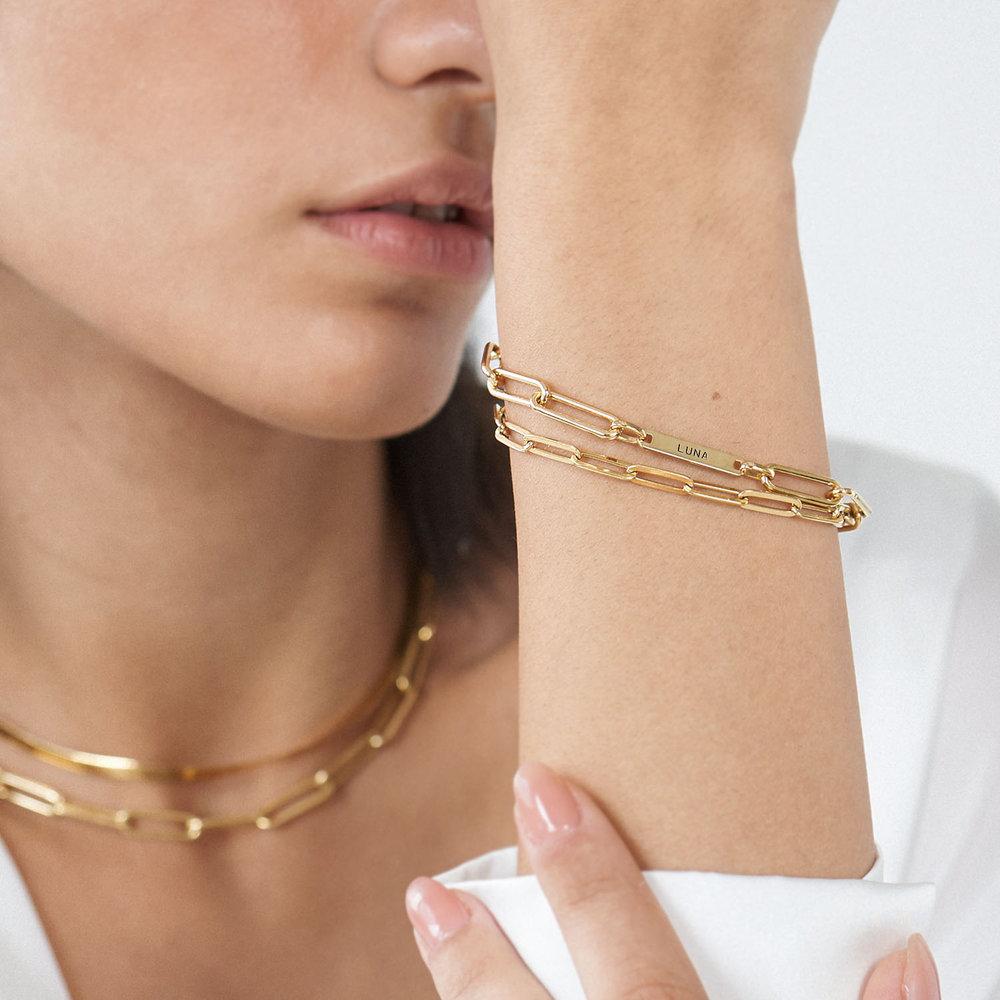 The Showstopper Link Bracelet/Anklet - Gold Plated - 3