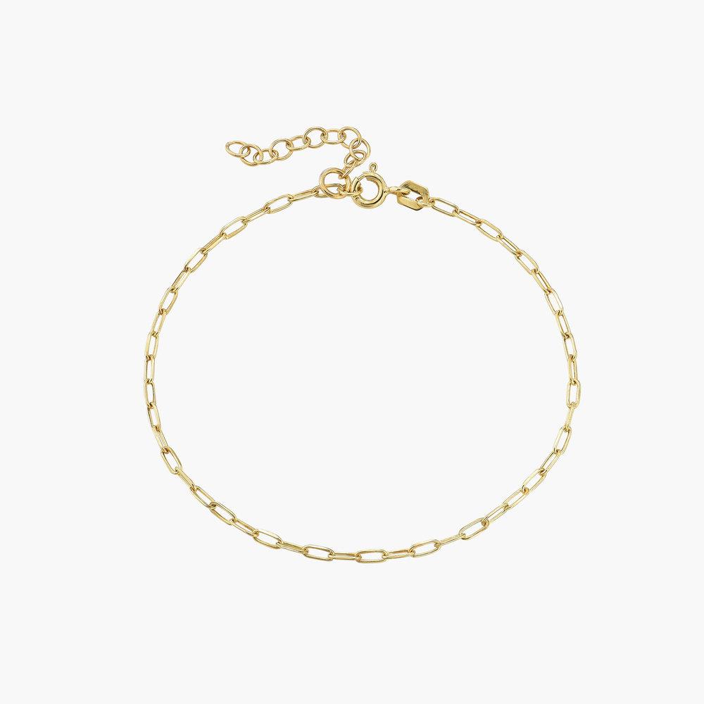 The Showstopper Link Bracelet - 10K Solid Gold - 1