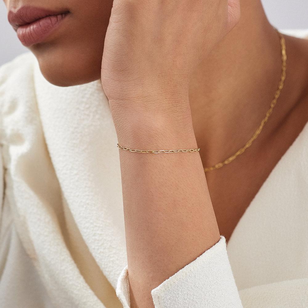 The Showstopper Link Bracelet - 10K Solid Gold - 3
