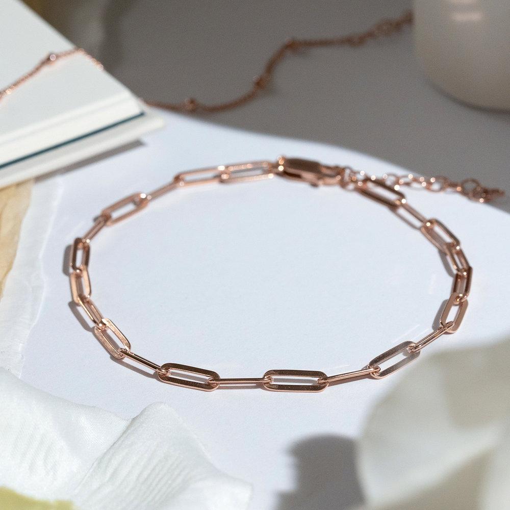 The Showstopper Link Bracelet - Rose Gold Plated - 2