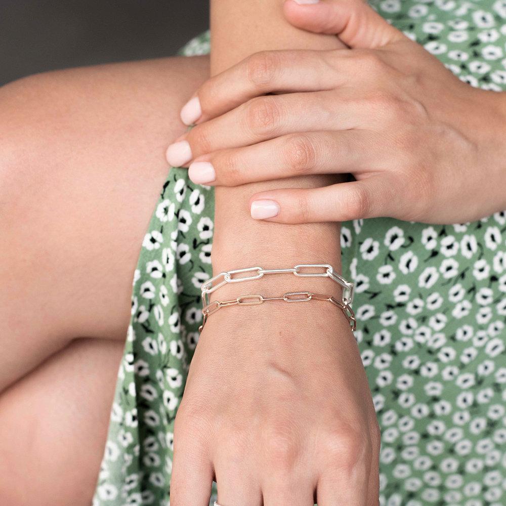 The Showstopper Link Bracelet/Anklet - Rose Gold Plated - 3