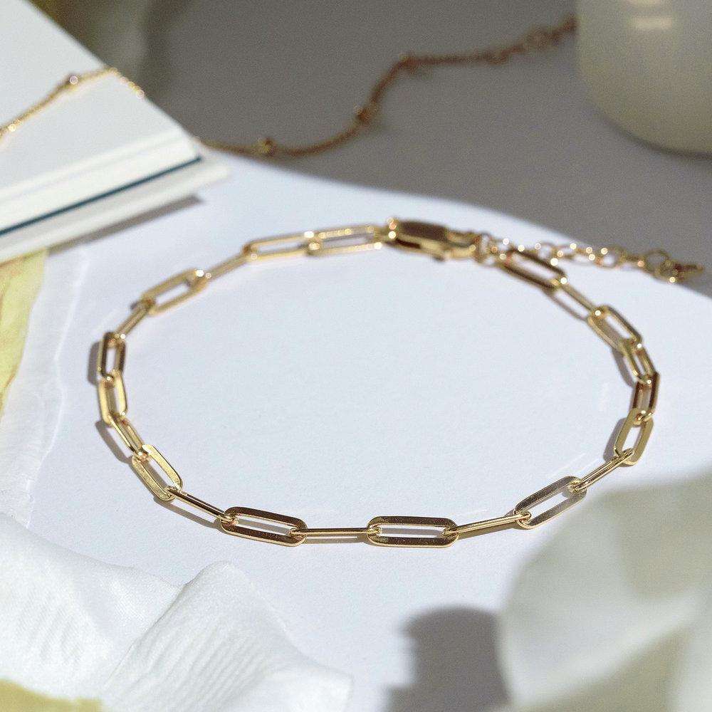 The Showstopper Link Bracelet/Anklet - Gold Vermeil - 2