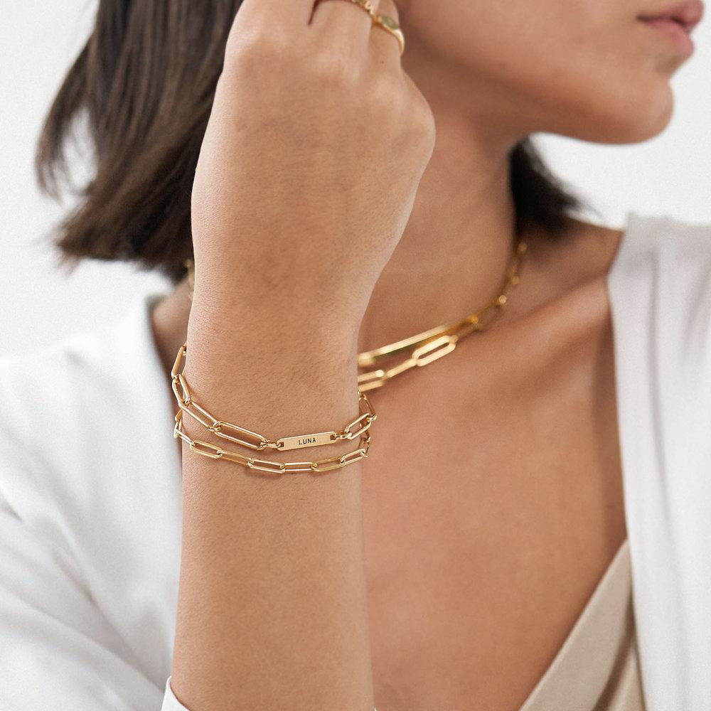 The Showstopper Link Bracelet/Anklet - Gold Vermeil - 3